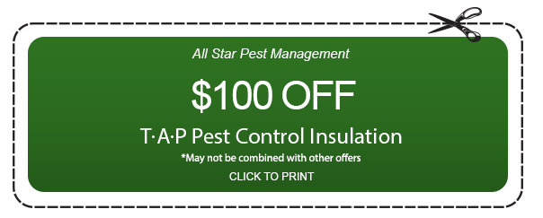 Coupon for TAP pest control insulation